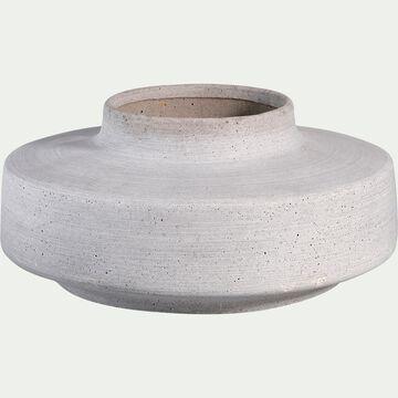 Pot en béton - gris D29,5xH14cm-CALCIS