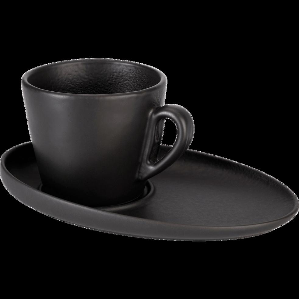 Tasse et sous-tasse en porcelaine qualité hôtelière 18cl-TARA
