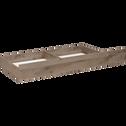Tiroir de lit à roulettes effet chêne cendré L200 cm-BROOKLYN