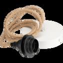 Cordon électrique en tissu naturel culot E27 L150cm-ARGUIN