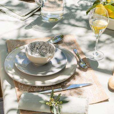 Set de table en jute à motif laurier 30x45cm-UZES