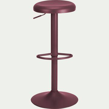 Tabouret ajustable en métal rouge sumac H59 à 81cm-CORIS