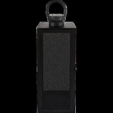 Lanterne en métal - noir - H53cm-ZADIG