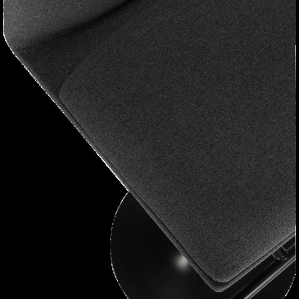 Chaise de bar pivotante en tissu gris - H60 à 81cm-THORONET