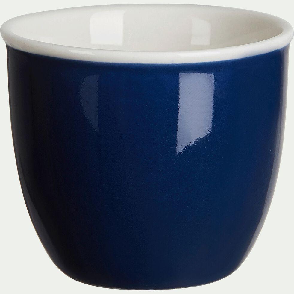 Coquetier en porcelaine - bleu figuerolles-CAFI