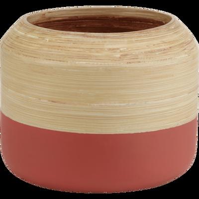 Vase en bois rouge D17xH17cm-SIRIUS