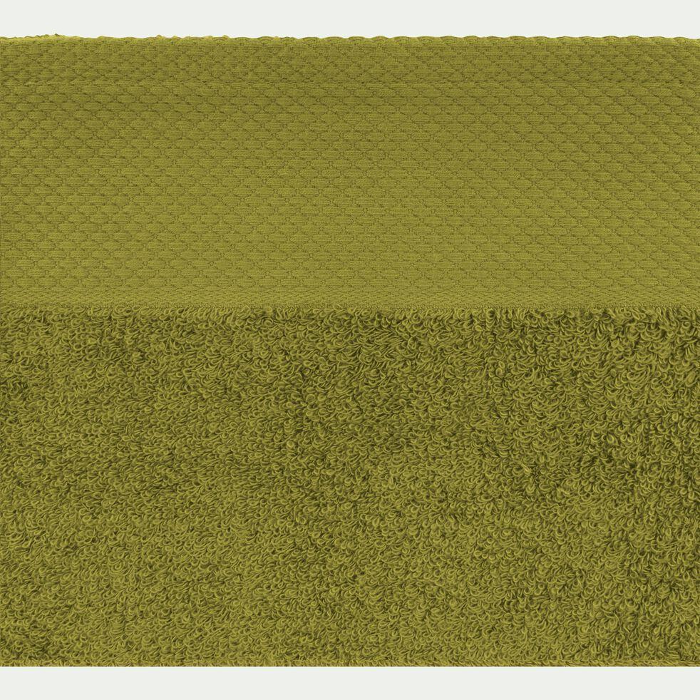 Serviette de toilette en coton peigné - vert garrigue 50x100cm-AZUR
