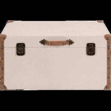 Malle de rangement beige L70xl35cm-CARLONE