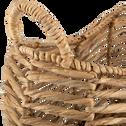 Panier tressé en jacinthe d'eau L66xl44xH33cm-GLORIA