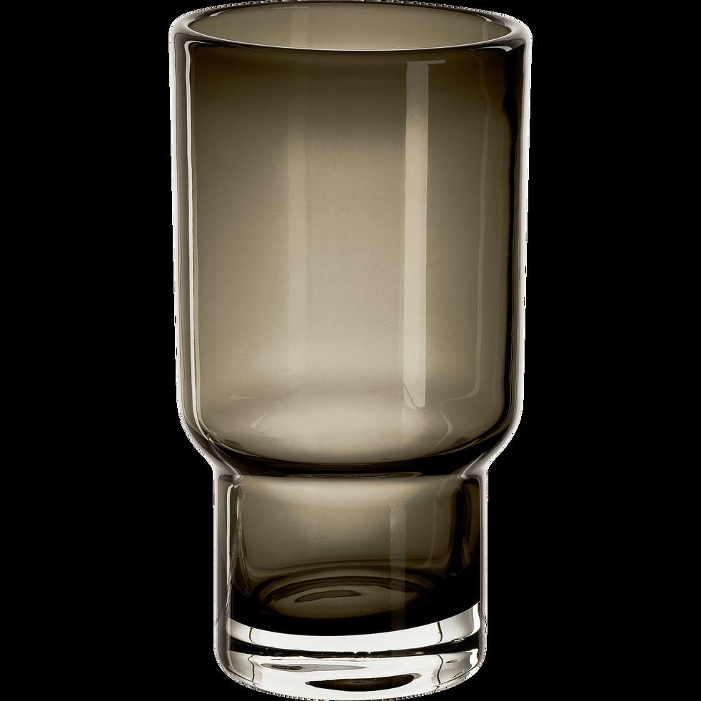 Verre à eau en verre gris 270ml-STEFANO