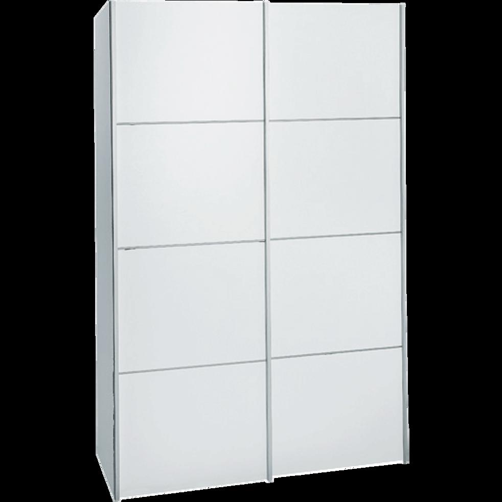 Armoire 2 portes coulissantes blanc en bois-TEEN
