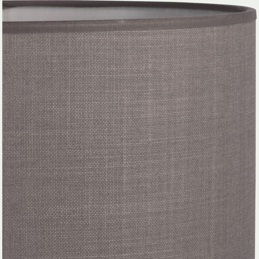 Suspension cylindrique en tissu gris D40cm-MISTRAL