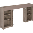 Tête de lit rangeante chêne cendré pour lit L180 cm-BROOKLYN