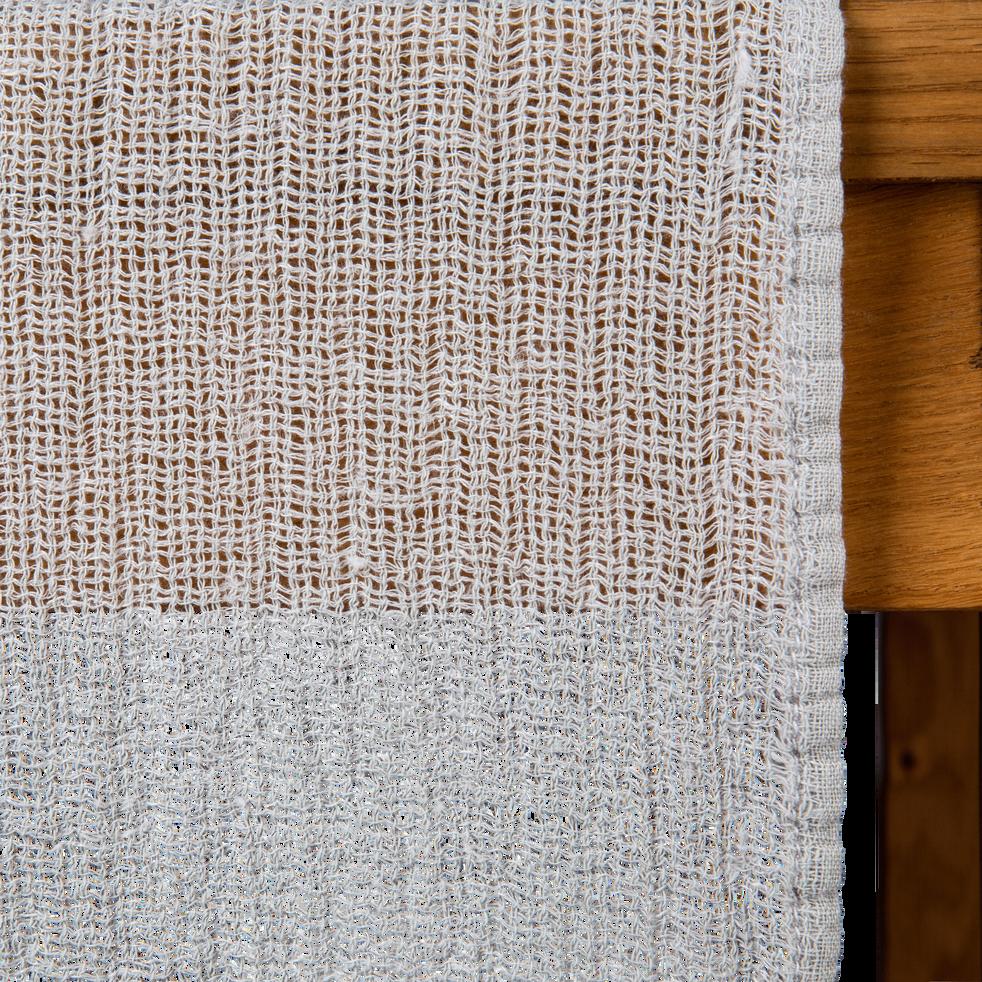 Chemin de table en lin gris 40x150cm-ICARE
