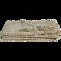 Plaid en acrylique frangé beige 130x170cm-THANH