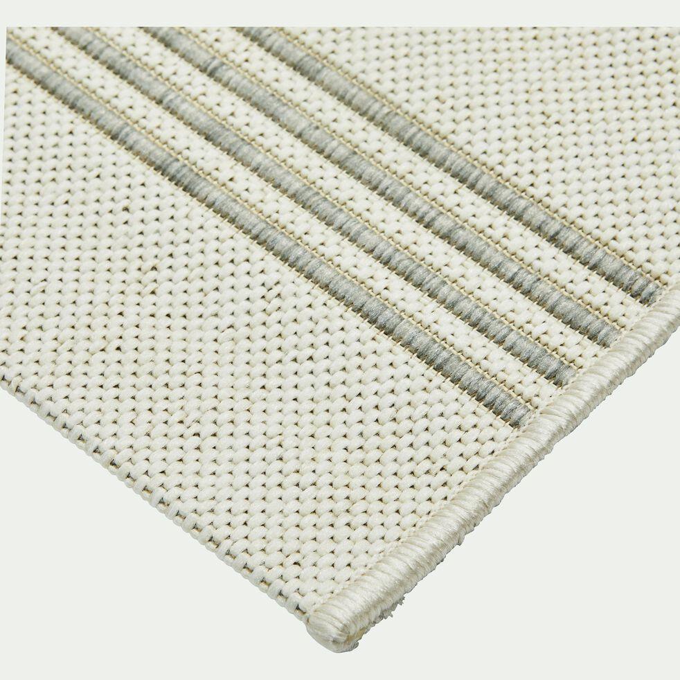 Tapis d'extérieur à rayures - gris 200x290cm-ELOISE