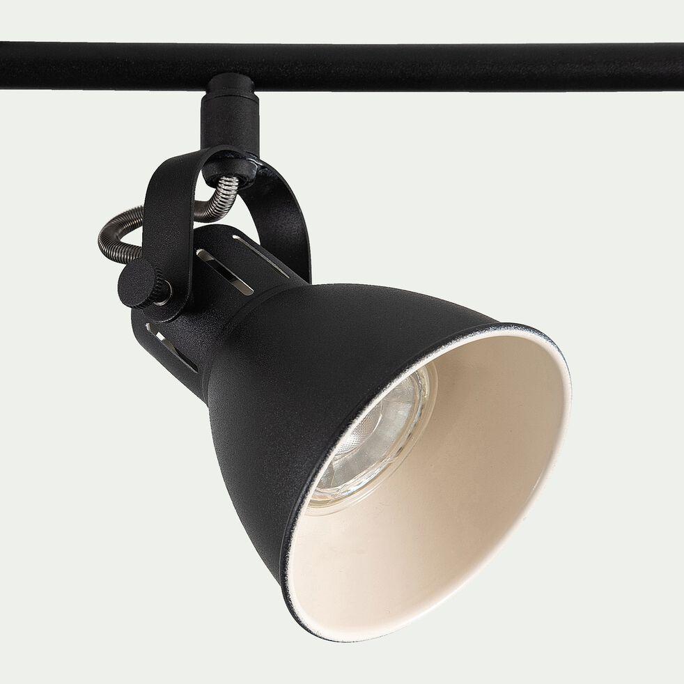 Barre 4 spots LED L77xH6,50cm - noir-SERAS