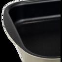 Plat à four rectangulaire en aluminium beige nèfle 25x35cm-PINTO