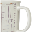 Mug en porcelaine blanc à motif 35cl-CAFI