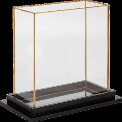 Vitrine noir et doré H29cm-PAVOT