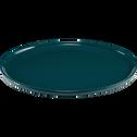 Assiette plate en faïence bleue D27cm-VADIM