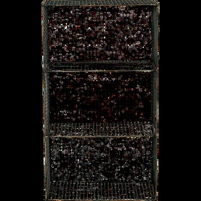 Étagère murale 3 niveaux noire en métal L40xl20xH70-CLAYTON