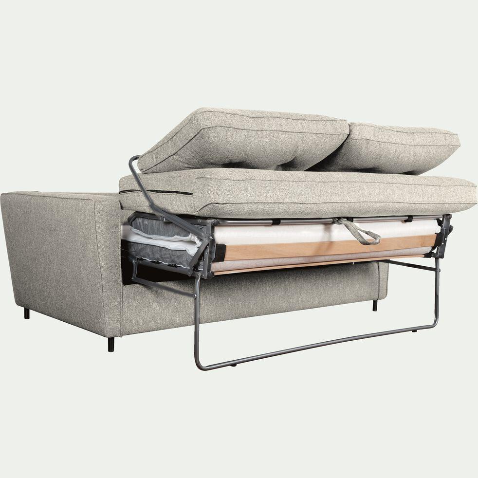 Canapé convertible 3 places en tissu - gris borie-BARTHOLE