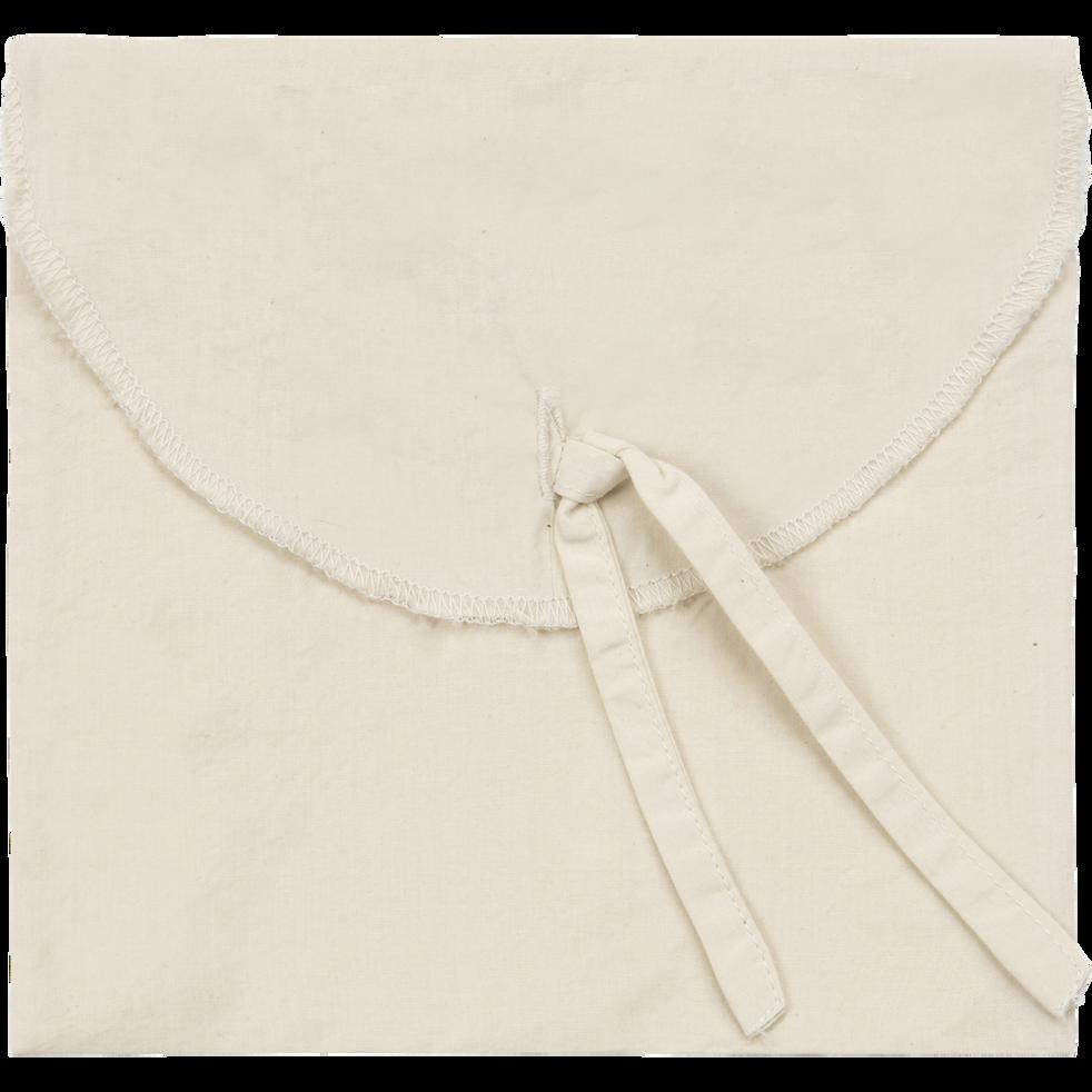 Taie d'oreiller en percale lavé en 35x45cm beige roucas-PALOMA