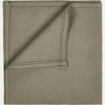Serviette de table en coton vert olivier 41x41cm-VENASQUE