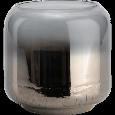 Photophore en verre argenté D15xH15-ZETA