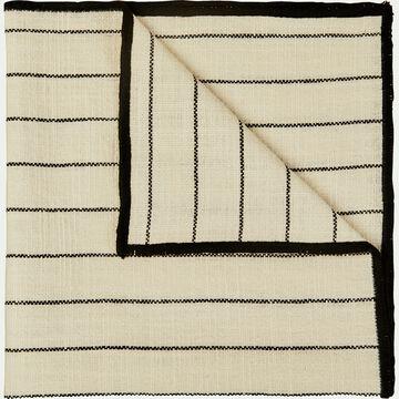 Lot de 2 serviettes de table en coton blanc et noir 41x41cm-BADIANE