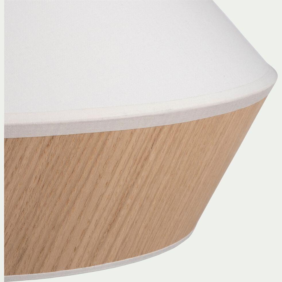 Suspension en tissu chêne et tissu - D40cm blanc-DOMUS