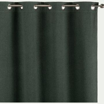 Rideau à œillets occultant vert cèdre 140x260cm-OTAWA