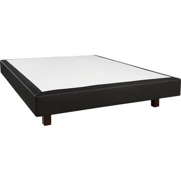 Sommier tapissier noir Duvivier 18 cm - 140x200 cm-CHIC