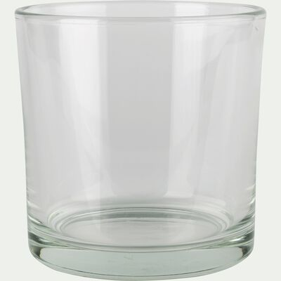 Photophore simple en verre - transparent H14cm-SABBIA
