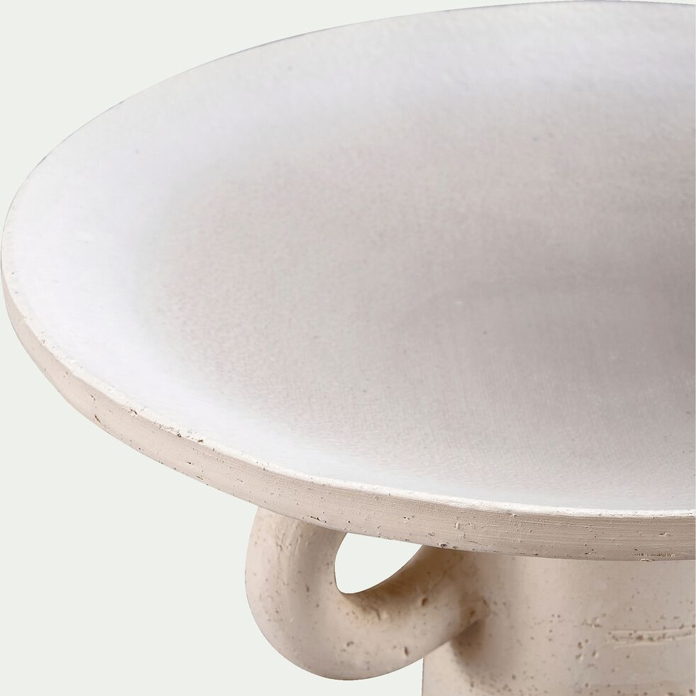 Coupe en terre chamottée - blanc ventoux D31x15cm-TERRE