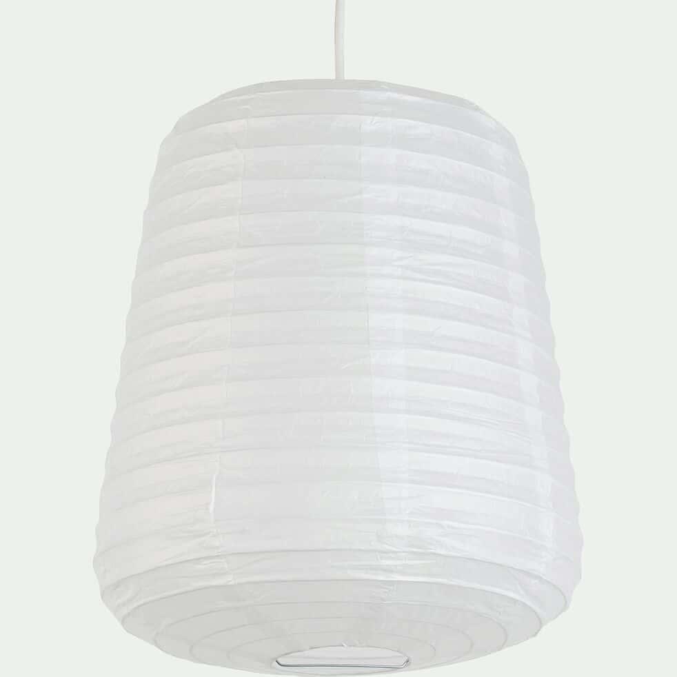 Suspension ovale en papier - blanc D27xH32cm-ALOU