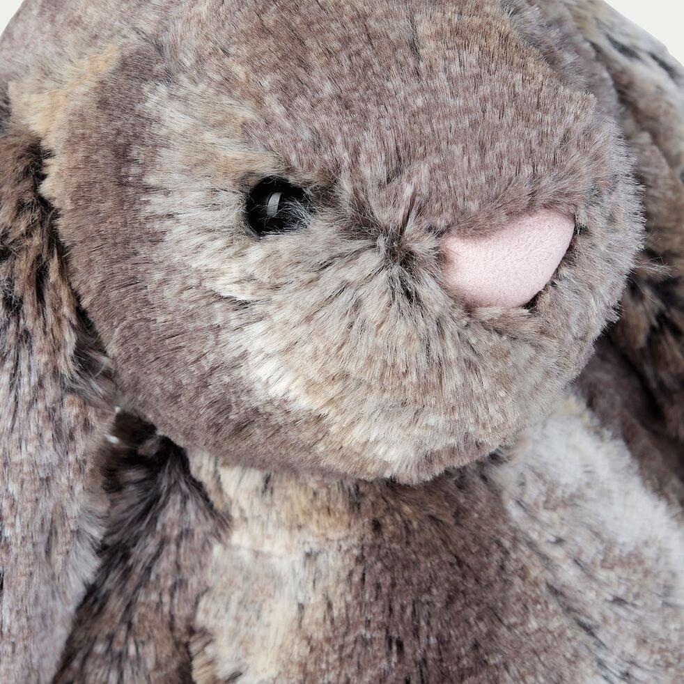Peluche lapin - marron h31cm-Basil