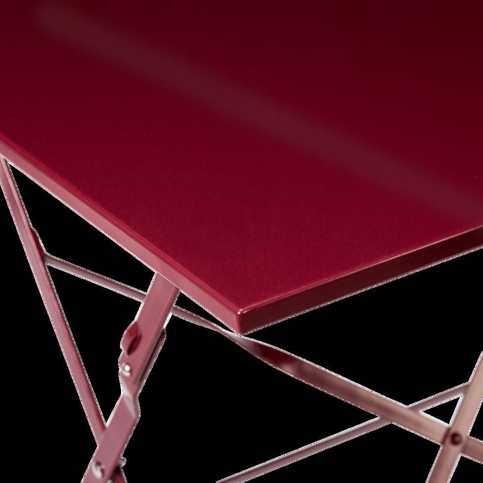 CERVIONE - Table de jardin pliante rouge sumac (2 places)