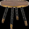 Table de repas ronde effet noyer - 4 places-MARTA