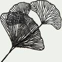 Branche en plastique effet gris métal H76cm-PASAY