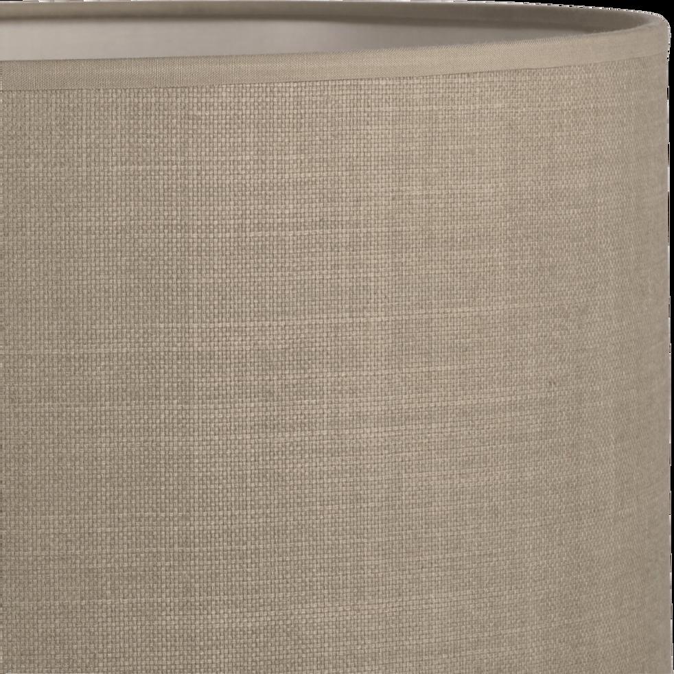 Suspension cylindrique en tissu vert D40cm-MISTRAL