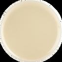 Assiette à dessert en faïence jaune pâle D20cm-CAMELIA
