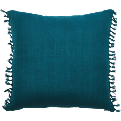 Coussin en coton bleu 45x45cm-NAUFAL