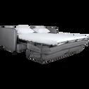 Canapé 3 places convertible en tissu gris borie-SAOU