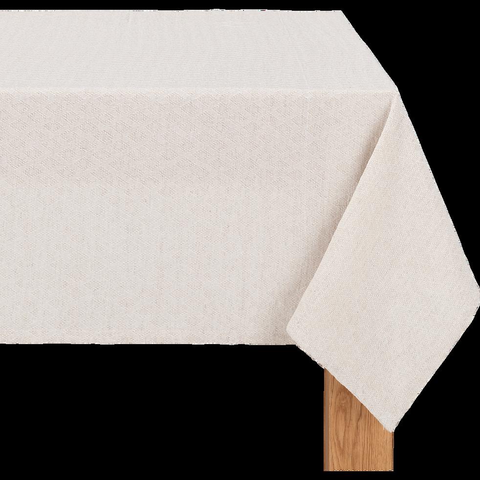Nappe en lin et coton beige 135x250cm-PYGO