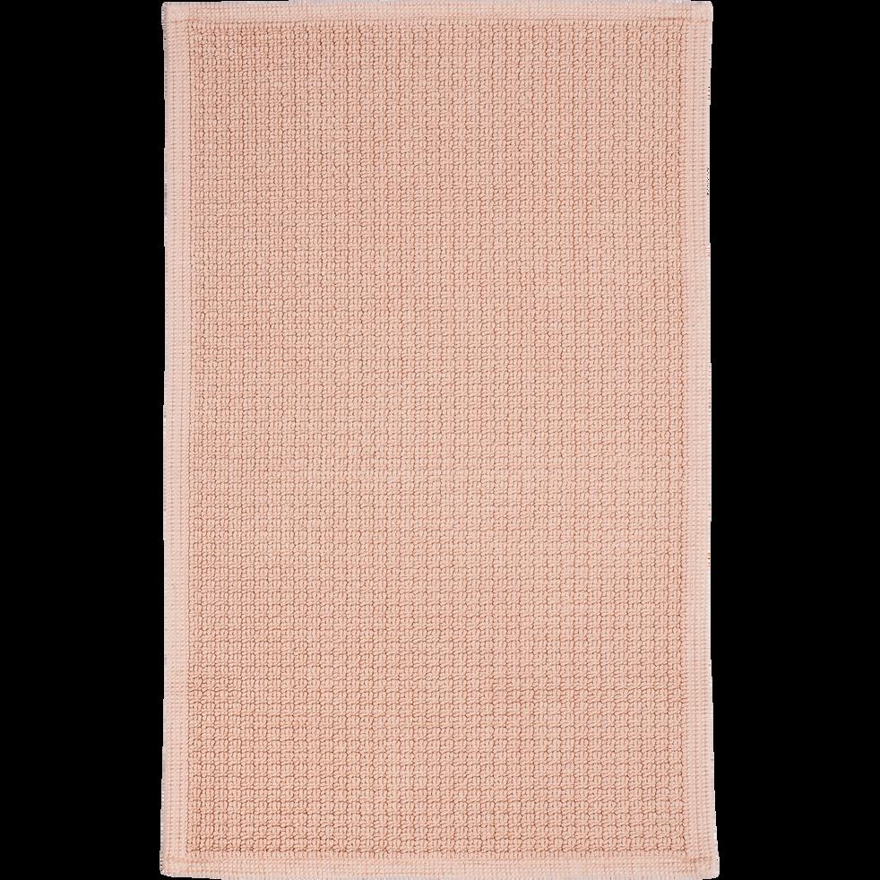 Tapis de bain 60x100cm rose argile-ESCAPADE