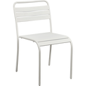 Chaise de jardin empilable gris clair en acier-SOURIS