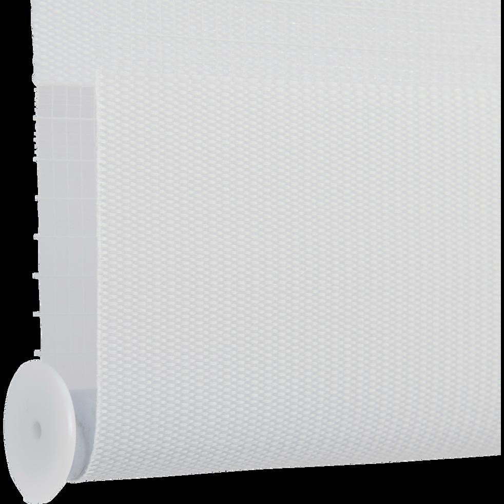 Store enrouleur tamisant blanc 82x190cm-JOUR-NUIT