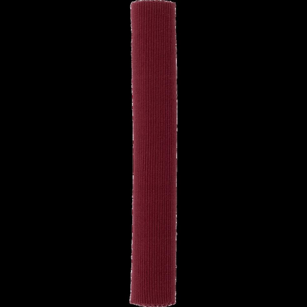 Descente de lit en coton rouge sumac-CAMELIA
